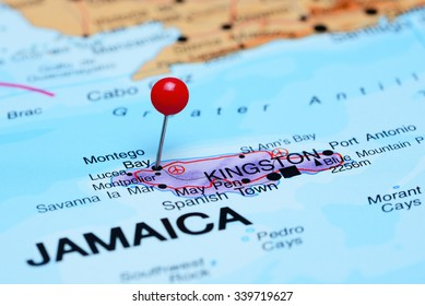 Montego Bay pinned on a map of America