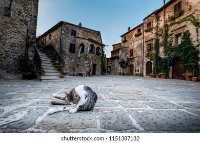 Montemerano, Tuscany - small medieval village in Maremma. Montemerano is a 12th century town in the heart of Maremma, at 55 kilometers from Grosseto, Italy