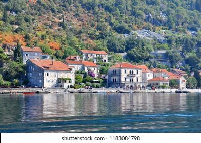 Montenegro. Bay of Kotor. Perast city view