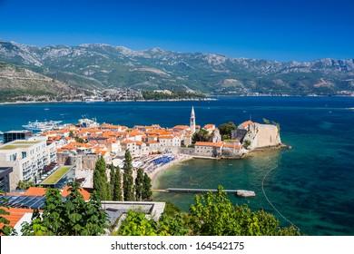Montenegro, Budva, old town top view
