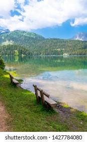 Montenegro, The Durmitor National Park in Zabljak , Black Lake