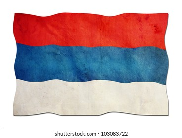 Montenegro flag  made of paper