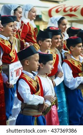 """Montenegro, Herceg Novi - 28/05/2016: Children of the ensemble """"Igalo"""" . 3 International Folklore Festival """"Meeting of the summer"""""""