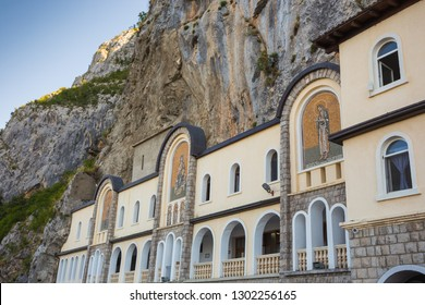 Montenegro, July 31, 2017. Monastery Ostrog in the mountains, a functioning Serbian Orthodox monastery, located at an altitude of about 900 m above sea level. Founded in the XVII century