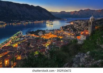Montenegro Kotor Bay at Sunset