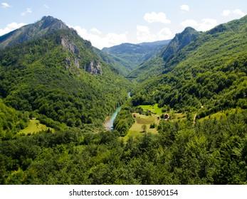 Montenegro mountain sunny landscape.