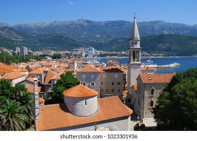 Montenegro. Old city Kotor. Red roofs