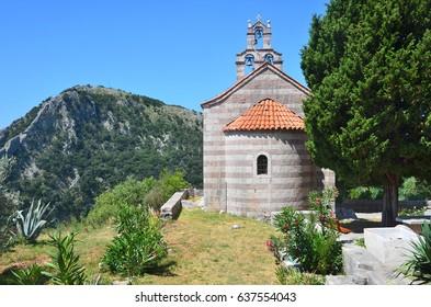 Montenegro, Petrovac, the ancient monastery Gradiste. The Church of Saint Sava