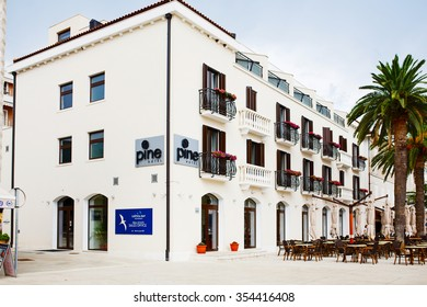 Montenegro, Tivat - August 06, 2015: Hotel Pine is situated in Tivat town, near luxury yacht marina Porto Montenegro