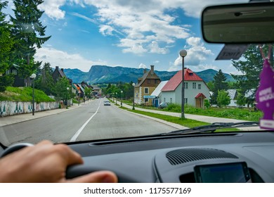 MONTENEGRO, ZABLJAK  - JUNE 06/2017: tourists travel on the mountain roads of Montenegro by car.