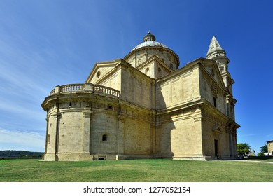 Montepulciano, Tuscany, Italy - September 09, 2018: Church of San Biagio near Montepulciano