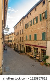 MONTEPULCIANO,ITALY - SEPTEMBER 20,2018 - In the streets of Montepulciano. Montepulciano is a medieval and Renaissance hill town and comune in the southern Tuscany.
