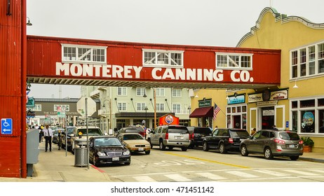 Monterey, CA - Aug. 2, 2012: Cannery Row. The site of a number of now-defunct sardine canning factories, Cannery Row is the waterfront street in the New Monterey section of Monterey, CA.