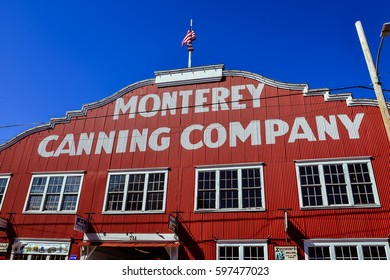 Monterey, CA - Feb. 24, 2017: Monterey Canning Company, one of the now defunct sardine canning factories along Cannery Row, Monterey, CA.