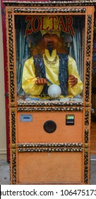 MONTEREY CA USA 04 12 2015: Zoltar may refer to Zoltar (fortune telling robot), robotic character in a fortune telling machine in the 1988 film Big