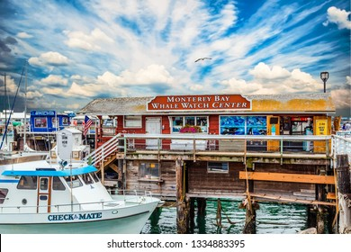MONTEREY, CALIFORNIA - May 13, 2016: Monterey has attracted artists since the late 19th century and many celebrated painters and writers have lived there. It is now a major cruise ship destination