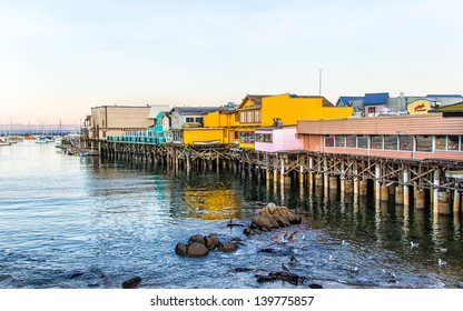 MONTEREY, CA/USA: DECEMBER 10: Monterey Wharf and Marina where fishing, sport and tourism combine to play vital economic roles in the vitality of Monterey Bay, California. December 10, 2012.