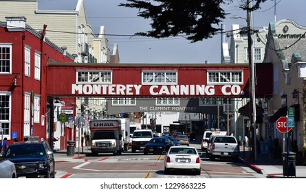 Monterey; USA - july 14 2016 : cannery at the fisherman wharf in the historical city centre