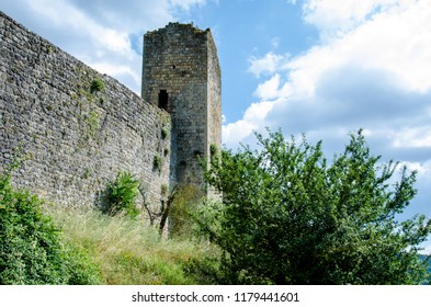 Monteriggioni wall, fortification, tower, Italy, Tuscany