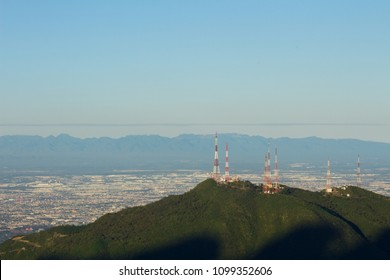 Monterrey city landscape view, taken from Chipinque natual park at Mexico