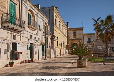Montescaglioso, Matera, Basilicata, Italy: the town square Piazza del Popolo in the ancient village