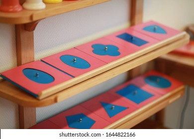 Montessori handwriting material in the classroom