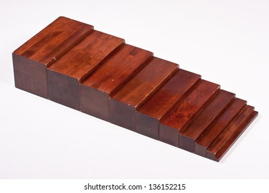 Montessori Learning Material: Brown Stairs