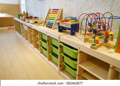 Montessori material, Kindergarten Preschool Classroom Interior
