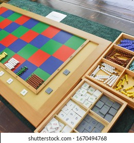 Montessori material for the study of multiplication