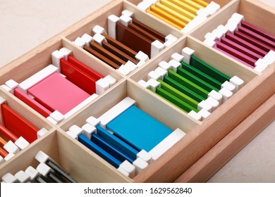 montessori material touch box colored cords №4
