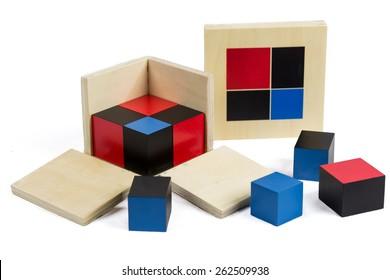 Montessori Materials. Binomial Cube.