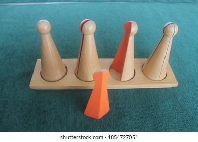 Montessori materials for solving fractions problems
