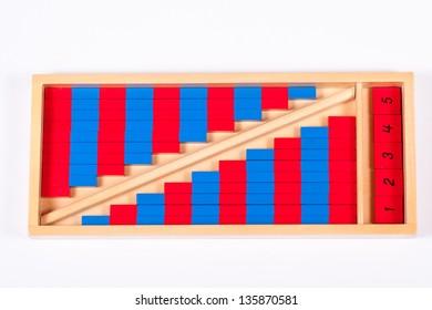 Montessori Number Rods Set