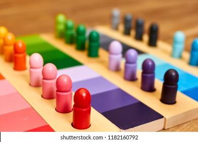Montessori wood color gamut