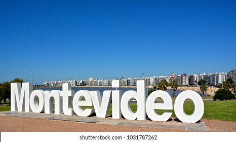 Montevideo city sign