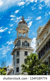 Montevideo, Uruguay – January 1, 2018: Architecture of Montevideo. The architecture of Montevideo ranges from neoclassical buildings to the postmodern style.