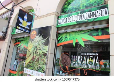 MONTEVIDEO / URUGUAY - JANUARY 21, 2019: Legalizing marijuana around the world: Cannabis shop and culture in Montevideo, Uruguay.