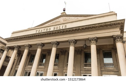 Montevideo, Uruguay, september, 12: View of the famous Solis Theatre facade, the oldest in Montevideo, located in front of Plaza Independencia, Montevideo, Uruguay. South America