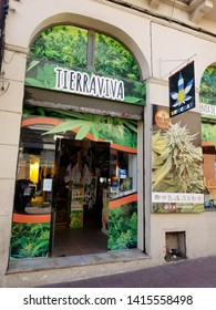 Montevideo/Uruguay-5/31/19: A cannabis or marijuana shop in Montevideo, Uruguay.  On December 2013, Uruguay was the first country in the world to legalise recreational cannabis.