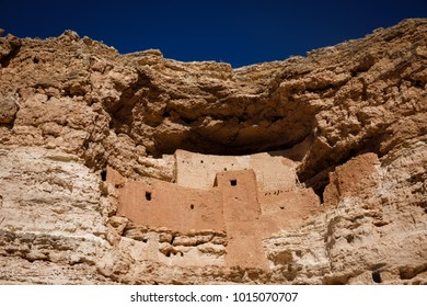 Montezuma Castle National Monument in Camp Verde, Arizona is seen January 24, 2018. The Native American cliff dwelling, built between approximately 1100 & 1425 AD, is five stories high & twenty rooms.