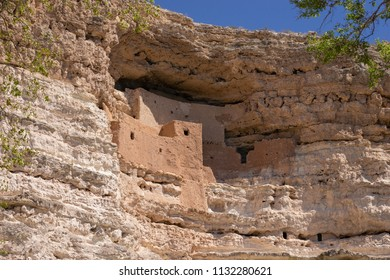 Montezuma Castle National Monument dwelling remains near Camp Verde, Arizona, USA