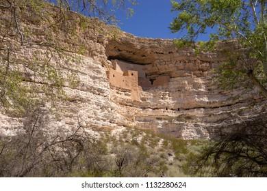 Montezuma Castle National Monument dwelling remains near Camp Verde, Arizona, USA