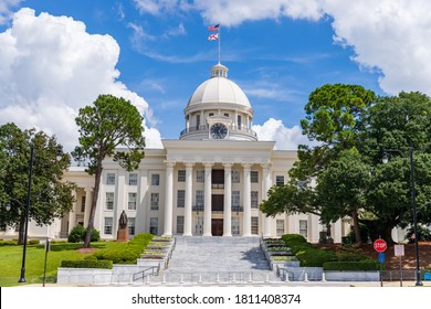 Montgomery, AL / USA - August 27, 2020: Alabama State Capitol building in Montgomery Alabama