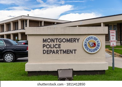 Montgomery, AL / USA - August 27, 2020: Montgomery Police Department building