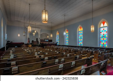 MONTGOMERY, ALABAMA - DECEMBER 3: Dexter Avenue King Memorial Baptist Church (1889) on December 3, 2014 in Montgomery, Alabama