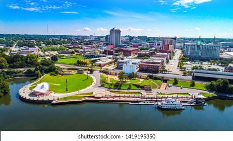 Montgomery Alabama Drone Skyline Aerial.