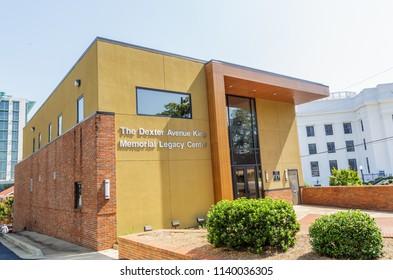 MONTGOMERY, ALABAMA - JULY 22, 2019:  Dexter Avenue King Memorial Legacy Center:  Dexter Avenue King Memorial Legacy Center located in downtown Montgomery, Alabama.