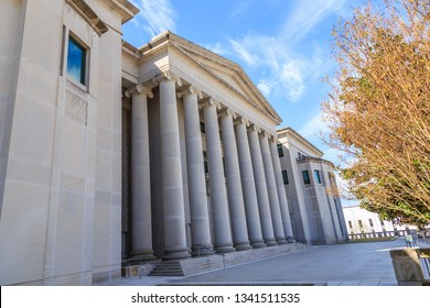 MONTGOMERY, ALABAMA - MARCH 17, 2019:  Historic Heflin Torbert or Judicial Building:  The Alabama Judicial Building which houses the  Supreme Court of Alabama, Alabama Court of Civil Appeals,