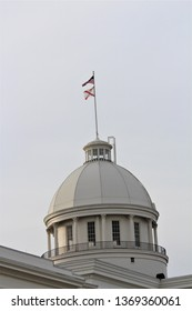 Montgomery, Alabama / United States - April 13 2019: The Alabama state capitol building in Montgomery