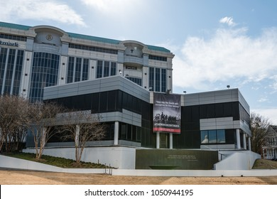 Montgomery, Alabama, USA - January 20, 2018: Headquarters of the Southern Poverty Law Center established in 1971. The Southern Poverty Law Center is dedicated to fighting hate and bigotry.